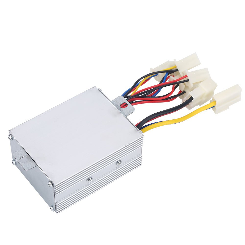 Asixx 24V Controller, 500W Motor Brushed Controller or Motor Speed Brush Controller, Electric Motor Controller Suitable for Electric Bicycles and Scooter