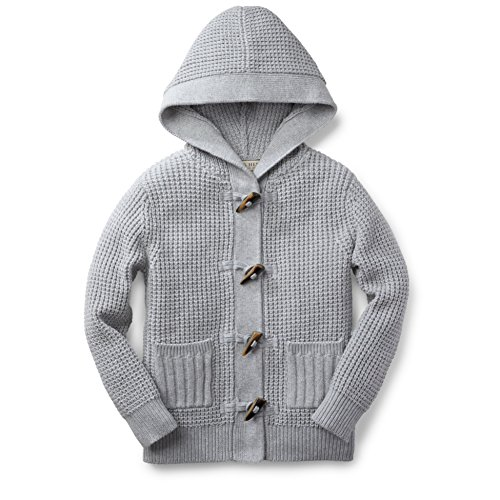 Hope & Henry Boys' Grey Chunky Waffle Stitch Sweater Size 12-18 Months