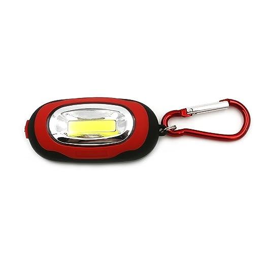 Linterna portátil COB LED luz de noche llavero linterna ...
