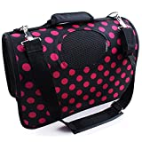 Komia Colorful Polka Dot Carrier Purse Puppy Dog Small Cat Pet Carrier Shoulder Bags Open Top