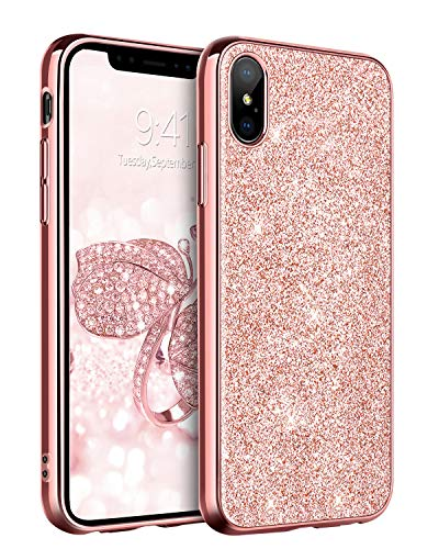 - BENTOBEN Case for iPhone XS Max 2018, Slim Glitter Shiny Full Body Protective Flexible Soft TPU Shockproof Anti Scratch Sturdy Non Slip Girl Women Phone Covers for Apple iPhone XS+ MAX 6.5