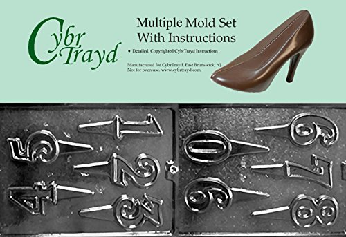 Cybrtrayd BUN-L037L038 2-Piece Cake Toppers Chocolate Molds