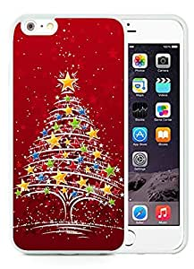 Hot Sell iPhone 6 Plus Case,Christmas tree White iPhone 6 Plus 5.5 TPU Case 23