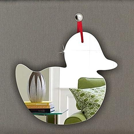 Pack of 5 Duck Acrylic Mirror Ornament - Window Hanging - Ceiling - Door - Nursery - Children - Room Decoration Mirrors-interiors