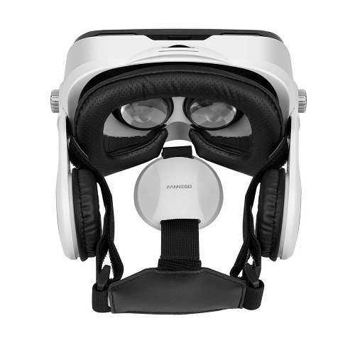 FANNEGO VR Headset, VR Goggles with Stereo Headphone Compatible with IOS & Android 3.5''-6.0'' Cellphones by FANNEGO (Image #4)