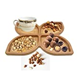 Saim Specialty Tableware Plates Bamboo Butterfly Appetizer Serving Tray Snack Plates for Festival Party Daily Decoration