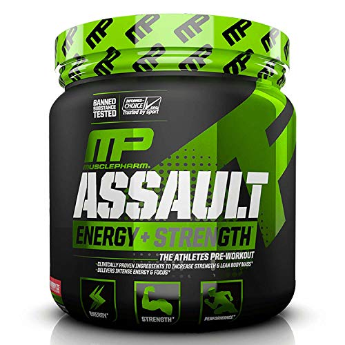 MP Assault Sport Pre-Workout Powder with High Dose Energy, Focus, Strength and Endurance, Strawberry Ice, 30 Servings