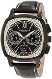 Akribos XXIV Men's AKR462BK Grandoise Multi Function Diamond Swiss Quartz Square Watch, Watch Central