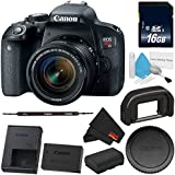 6Ave Canon EOS Rebel T7i DSLR Camera with 18-55mm Lens 1894C002 - Standard Bundle - International Version (No Warranty)