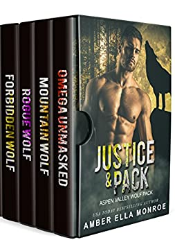 Justice and Pack ~ A Bad Boy Shifter Paranormal Romance Book Bundle by [Monroe, Amber Ella]