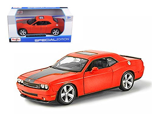 2008 Dodge Challenger SRT8 Orange 1/24 Model Car by Maisto