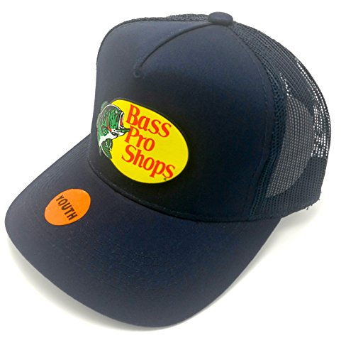 BestsBrands, Authentic Bass Pro Shops Logo Mesh Cap for Kids and Youth Adjustable. Size Kids / Youth - Goods Bass Sporting