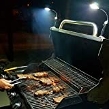 BRIGHT EYES Magnetic Barbecue BBQ Light Set for Grilling- 6 Alkaline AAA batteries included.