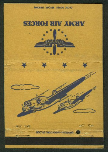 United States Army Air Forces matchcover twin-engine bombers
