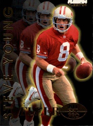 (1994 Fleer All-Pros Football Card #24 Steve Young)