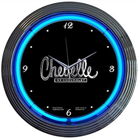 Neonetics Cars and Motorcycles Chevelle Neon Wall Clock, 15-Inch - Motorcycles Neon Clock