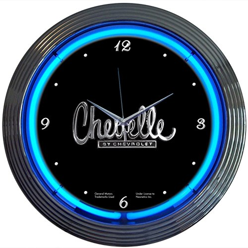 (Neonetics Cars and Motorcycles Chevelle Neon Wall Clock, 15-Inch)