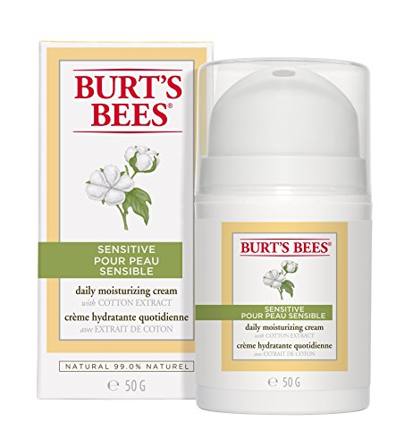 Burt's Bees Daily Face Moisturizer Cream for Sensitive Skin, 1.8 Ounces (Packaging May Vary)