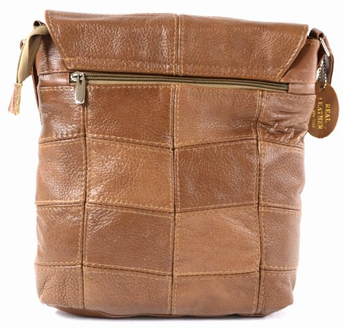 Shoulder Tan Cross Black Bag Brown Ladies Dark Tan Leather Body Bag aZUIIq