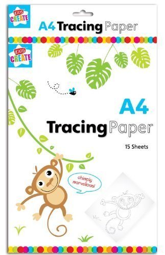 Children's Kids A4 Tracing Paper 15 Sheets Art Craft School Home Office Activity The Home Fusion Company