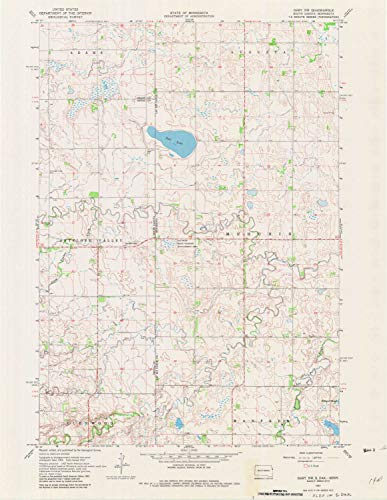 (YellowMaps Gary NW MN topo map, 1:24000 Scale, 7.5 X 7.5 Minute, Historical, 1967, Updated 1982, 27 x 20.9 in -)