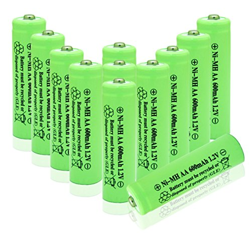 Geilienergy Solar Light AA Ni-MH 600mAh Rechargable Batteries (Pack of 12)
