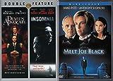 Death and the Devil Movie Combo - Meet Joe Black, Devil's Advocate & Insomnia 3-DVD Bundle