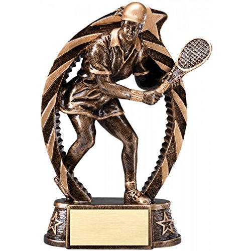 Tennis Resin Running Star Series Female Tennis Award 7 1/2 inch