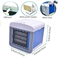 A-AC1 Alliebe Personal Air Cooler Mini Portable Air Conditioner Fan Desktop Space Cooler Personal USB Table Fan Small Evaporative Cooler Air Humidifier