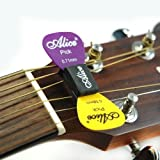 Alice 2 x GUITAR PICK HOLDER A010C rubber wedge plectrum for acoustic electric