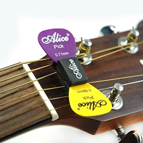 Alice 2 x GUITAR PICK HOLDER A010C rubber wedge plectrum for acoustic electr
