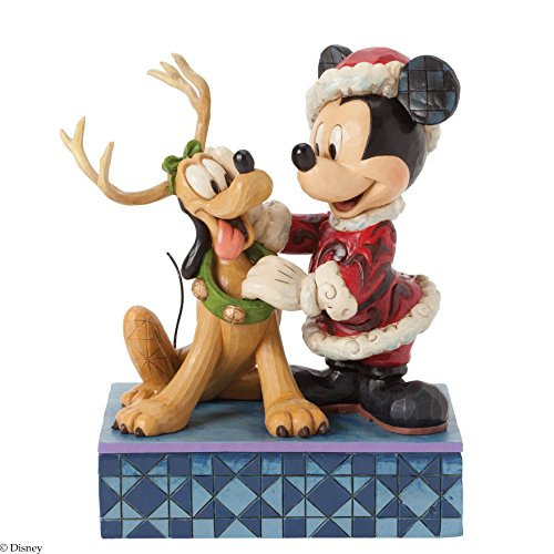 Jim Shore for Enesco Disney Traditions by Santa Mickey with Pluto Figurine