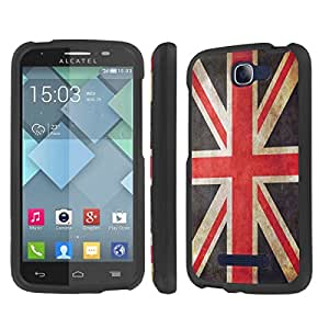 NakedShield Alcatel One Touch Fierce 2 7040T (Flag United Kingdom) Total Hard Armor LifeStyle Phone Case