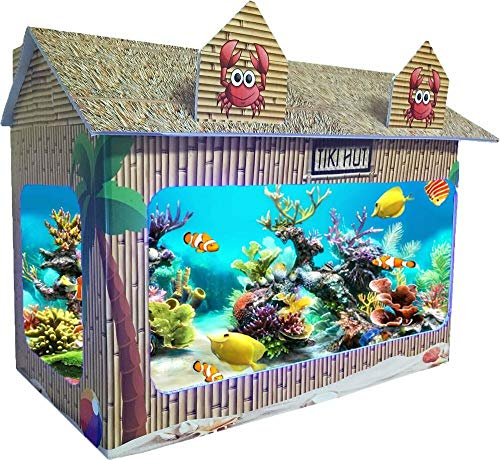 MAJESTY CORP 10 Gallon Tiki Hut Aquarium Tank Cover Fit for RJ Enterprises