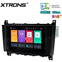 XTRONS 8 Inch Octa Core Android 6.0 Multi Touch Screen Car Stereo Player GPS for Mercedes Benz C/CLK Class W209 W203
