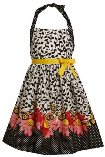 Bonnie Jean Big Girls' Border Print Halter Dress