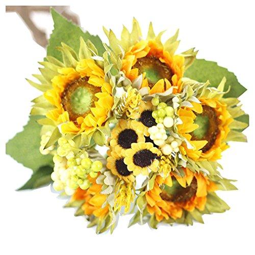 Artificial False Rose Silk Flowers 12 Flower Head Floral Wedding Garden Decor - 4