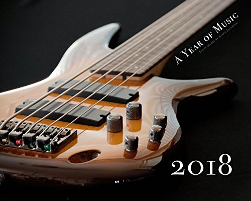 2018 Music Wall Calendar Large 11x14 Inspirational Musical Instrument Fine Art Photography Gift for Musician Bass Guitar Piano Flute Cello Ukulele Saxophone Cymbal French Horn Mandolin 14x23 Glossy