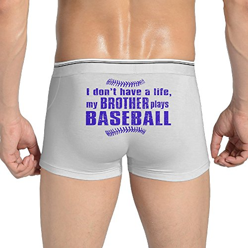 [My Brother Plays Baseball Men's Boxer Briefs Painted Design Thong Underpants] (Mvp Baseball Xbox 360)