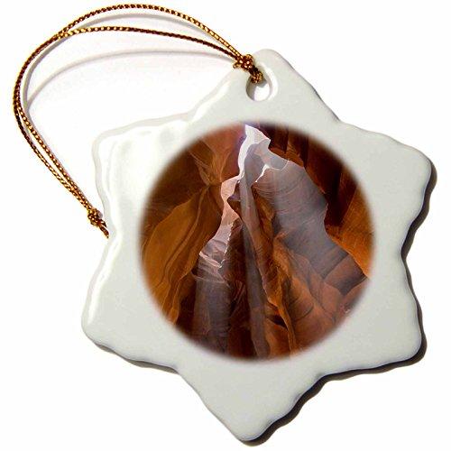 3dRose orn_87879_1 Antelope Canyon, Navajo Nation, Page, Arizona - US03 DPB0132 - Douglas Peebles - Snowflake Ornament, Porcelain, 3-Inch by 3dRose