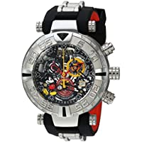 Men's 'Disney Limited Edition' Swiss Quartz Stainless Steel and Silicone Casual Watch, Color:Two Tone (Model: 22733)