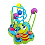 SHOBDW Baby Toys, 1PC Hot Children Kids Baby Colorful Wooden Mini Around Beads Educational Game Toy (12 x 13.5 x 10cm, Random)