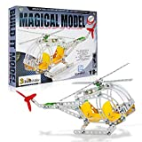 3 Bees & Me STEM Helicopter Building Toy Kit - Educational Construction Model Kit for Boys and Girls Age 8 9 10 11 Years Old - Kids Age 6 and 7 Can Do with Help - Unique and Fun Gift
