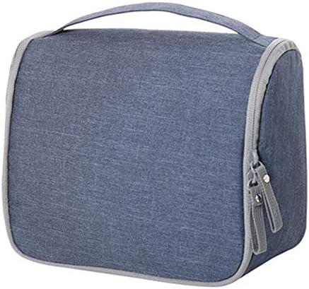 トラベルポーチ化粧ポーチ ポータブル化粧品袋収納袋に伴いポータブルシンプルなコスメティックバッグ大容量ウォッシュバッグ トラベルポーチ 化粧品 (色 : 青, Size : 23x20x11.5cm)