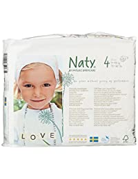 Naty by Nature Babycare Eco-Friendly Disposable Baby Diapers, Size 4, 4 packs of 27 (108 diapers) BOBEBE Online Baby Store From New York to Miami and Los Angeles
