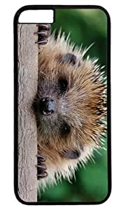 Cute Hedgehog Animal Masterpiece Limited Design PC Black Case for iphone 6 by Cases & Mousepads