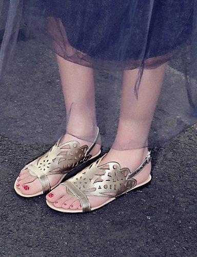 Vestido flecos mujer con aire de libre F26 de al Sandalias tacón Zapatos Negro Blanco Negro Dorado Casual Plateado ShangYi PgqxCn
