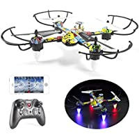 Mini Drone Quadcopter,Bagvhandbagro Quadcopter Drone with 480P HD Camera and LED Light,Drone with Headless Mode,3D Flip, APP Control, Gravity Sensor for Beginners or Kids