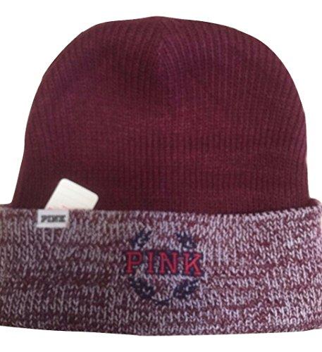 NK Deep Ruby & Ruby Marl Reversible Beanie Winter Hat - One Size ()