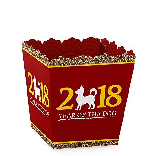 Chinese New Year - Candy Boxes 2018 Year of the Dog Party Favors (Set of 12)